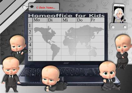 Stundenplan im Sinne von Homeoffice... am PC Fächer eintragen!