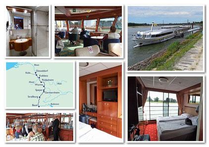 Unser Schiff: MS Elegant Lady / Unsere Route: Düsseldorf - Basel