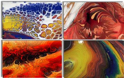 Beispiele für Acryl gießen (Maltechnik)