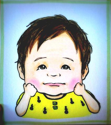 子供のびろーん似顔絵