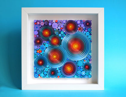 Abstract art - Paper wall art - Quilling - Wall decor - Modern art - Framed - 1st anniversary gift - Wedding -Birthday - Decor - Handmade