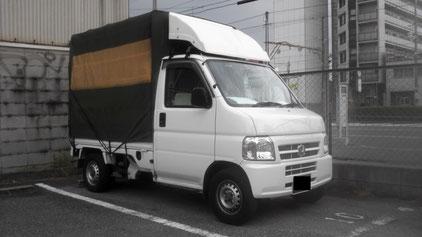 堺市 軽貨物急送 大阪 軽トラック ホンダ アクティ 軽トラック 軽四輪 パレット積 堺市