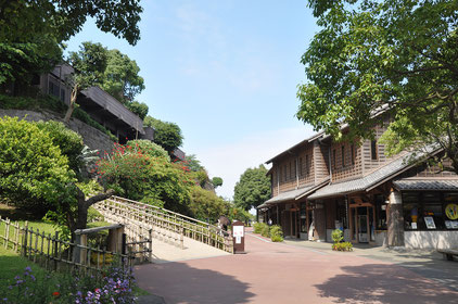 The gift shops at Sengan-en