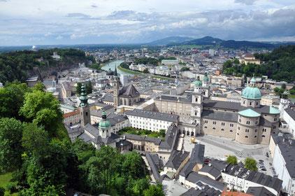 Salzburg seen from Hohensalzburg Fortress.