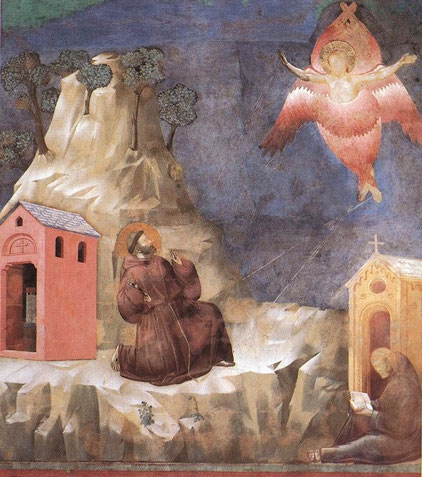 St. Francis receives the Stigmata