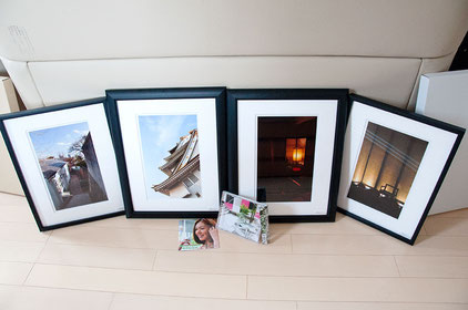 Framed photos & a CD