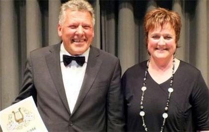 Ehrenmitglied Werner Horn 2012   -      Vorsitzende Birgitt Kunzmann