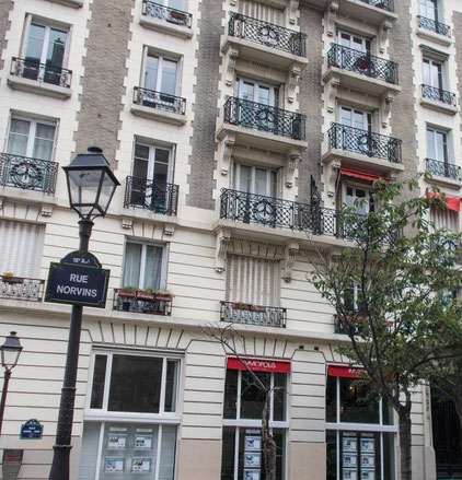 Pariser Häusercharme am Montmatre