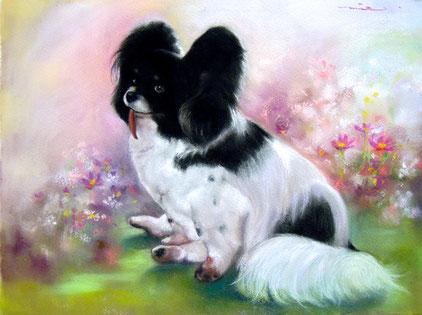 ペット 犬 ペット肖像画 パステル画教室
