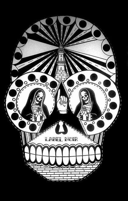 Label noir- 65/100 cm - techniques mixtes- 2013