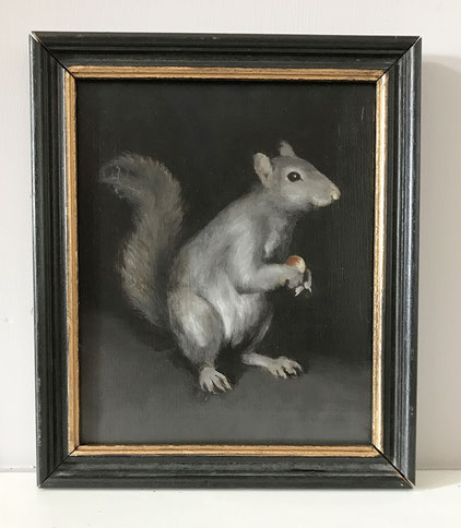 mid 20th century portrait of a squirrel