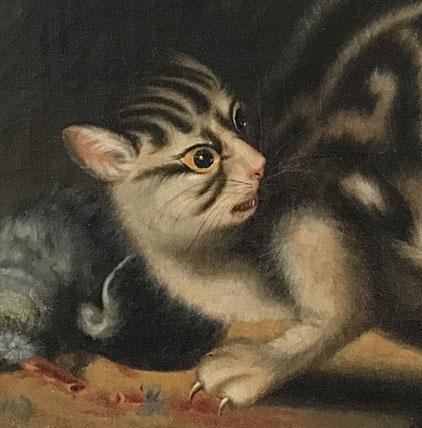 19th century folk art cat