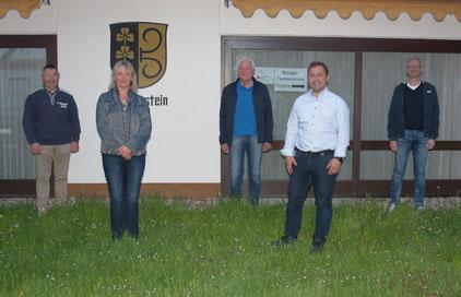 Christian Streng, Silke Müller, Manfred Schmidt (Ortsvorsteher), Florian Müller (Schriftführer), Dietrich Schwarz (stellvertretender Ortsvorsteher)