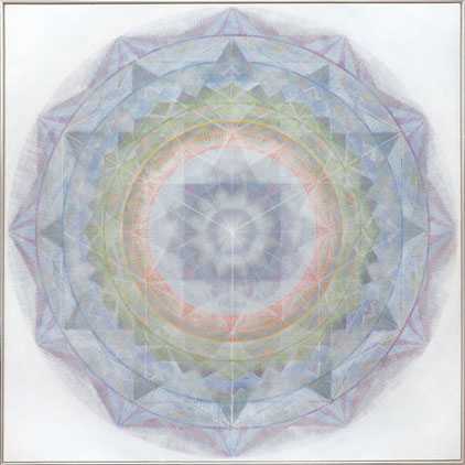 """ALIGNMENT"" / 120x120cm /  Mixed media on canvas / 2021"