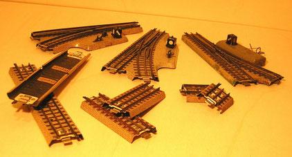 Nachkriegsgleis 3600 - 3700 mit 4 mm Schwellenabstand
