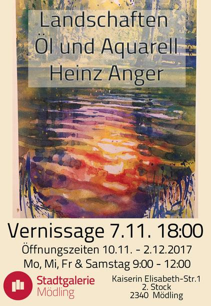 Ausstellung Landschaften Öl und Aquarell Heinz Anger Stadtgalerie Mödling