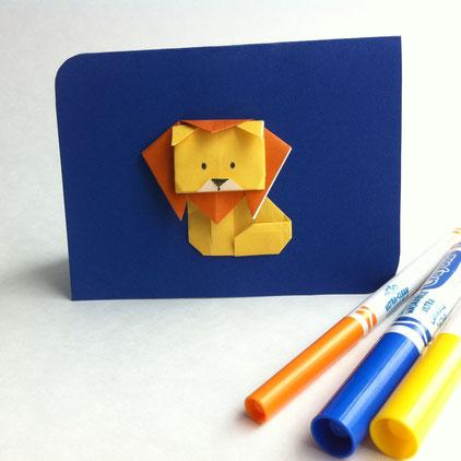 Carte à motif de lion
