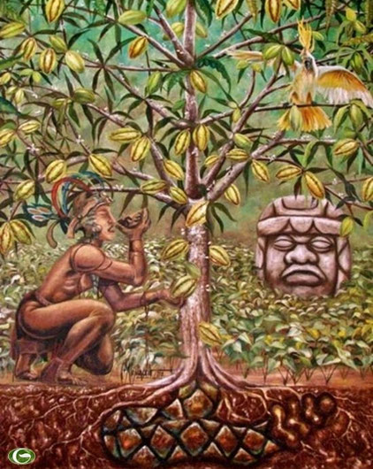 the cacao tree of life painting