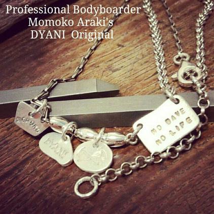 Professional  Bodyboarder Ms. Momoko Araki's    DYANI Original   4Charm SV  Necklace