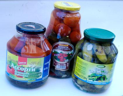 АССОРТИ домашнее укропное, огурцы и томаты