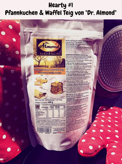Hearty herzhaftes Tasting Dr. Almond Pfannkuchen Waffel Teig