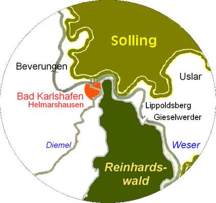Das Dreiländereck im Weserbergland (Hessen - Niedersachsen - NRW)