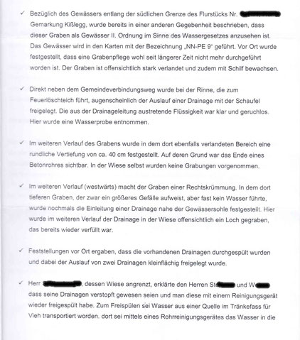 """Schreiben der """"Umweltbehörde"""""""