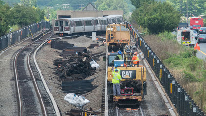 Picture of SafeTrack construction near East Falls Church metro stations