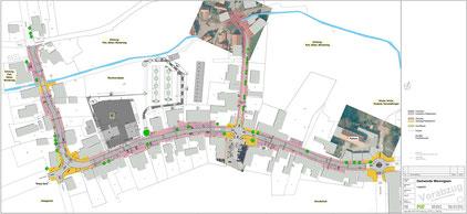 Lageplan Untersuchungsgebiet Leitbild Hauptstraße Wennigsen