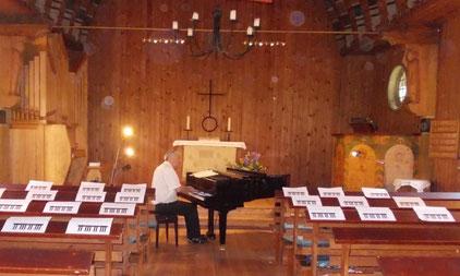 Probe in der Fischerkirche Born