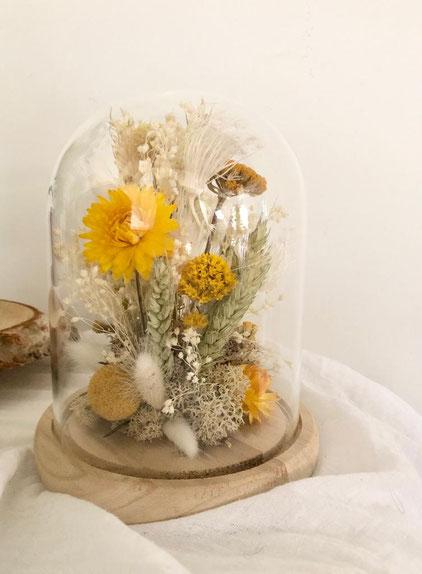 cloche fleurie - fleurs séchées - Histoires Botaniques