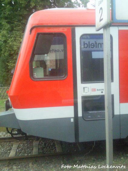 BR 628/928 Im Kreuzungsbahnhof Sternfeld / Foto ausm Zug Der OLA Gemacht