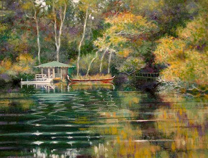 2002-7 ; The Boat House - Oil - 11x14 inches