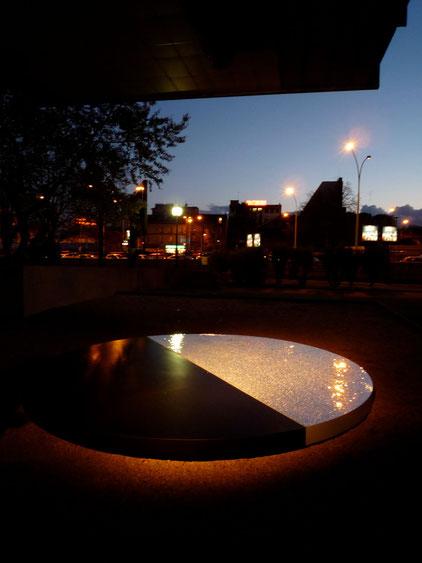 Centrifuge. Dreh- und betretbar. Durchmesser six feet. 0-Level Fondation Avicenne, Paris 2009
