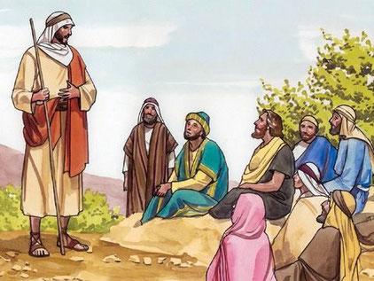 Le ministère de Jésus qui a duré 3 ans et demi (de l'an 29 à l'an 33) consistait principalement à enseigner de ville en ville et de village en village. Jésus annonçait une bonne nouvelle pour le monde entier : la venue du Royaume de Dieu.