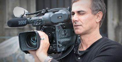 Videograph mit Sony HD-Kamera und Rode-Mikrofon