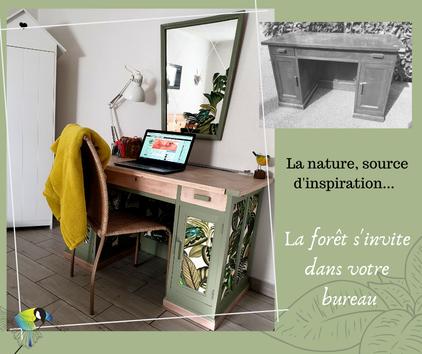"""upcycling, recyclage, déco, bureau, style nature, ambiance nature, création déco """"avec presque rien""""l"""