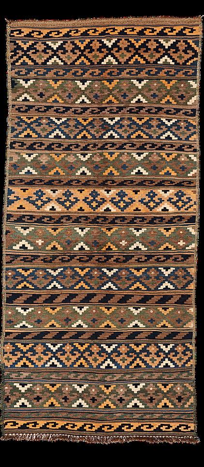 Teppich. Zürich. Vintage Kilim from Iran. Hand-woven tribal flatweave. Handgewebter Teppich, Kelim.