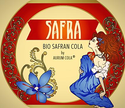 Safran Cola Etikett SAFRA  Jugendstil