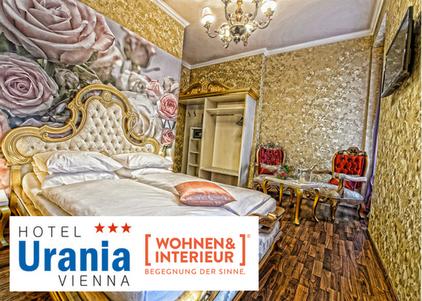 Wohnen Interieur 2017 Messe Wien Hotel Romantikhotel Urania Vienna 1030 Wien Empfehlung Tipp billig günstig package Prater