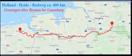 Holland - Heide -Radweg  ~ 400 km