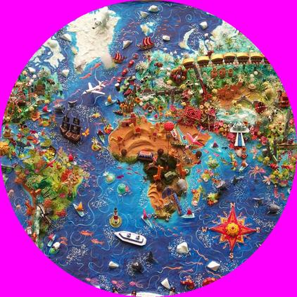Landkarte von Sara Drake, hier gewollt gerundet von mir!
