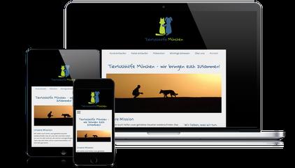 Die Tiersuchhilfe München ist Kunde der Web-Manu-Faktur München
