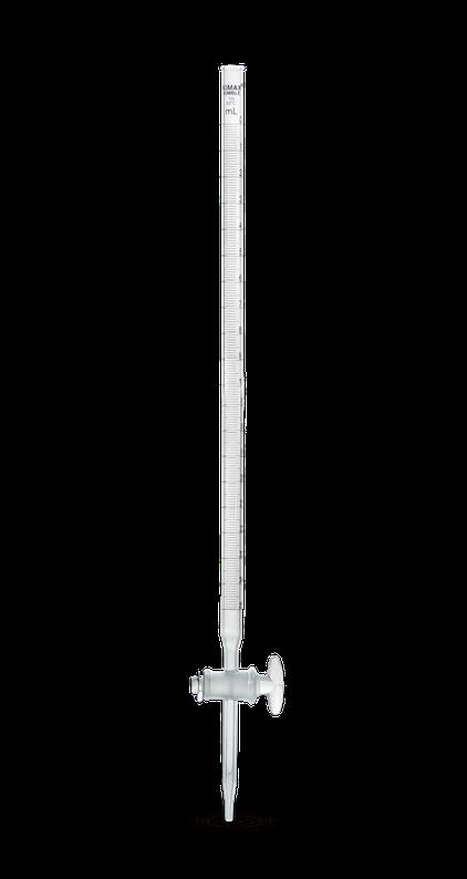 Bureta recta clase B con llave de Vidrio 17026