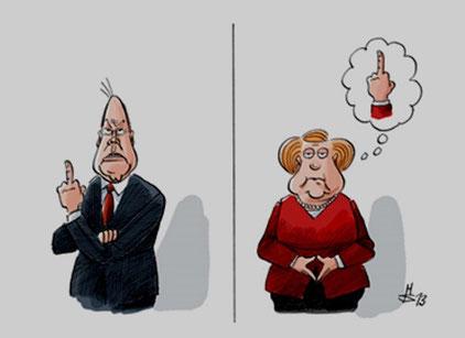 Topkandidaterne Peer Steinbrück (SPD) og Angela Merkel (CDU)