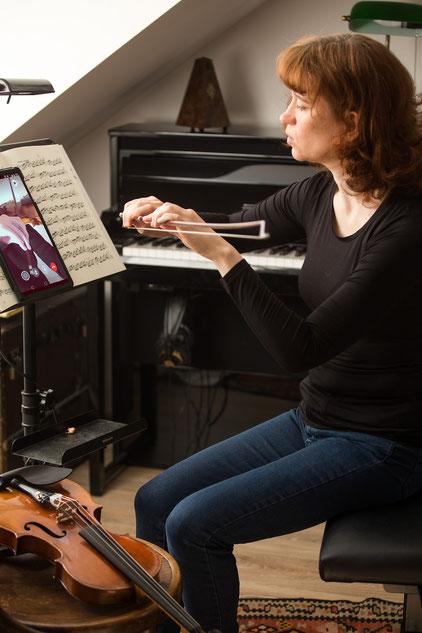Online Violine und Cello lernen via Skype, Facetime und Zoom