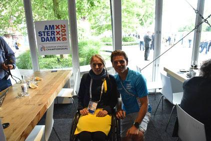 Kira Grünberg mit Regionalsport Redakteur Fabina Unger Foto: Fabian Unger