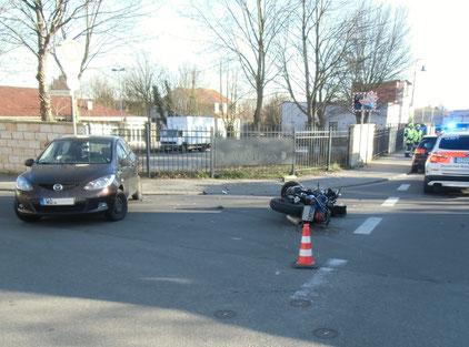 Flörsheim-Dalsheim - Unfall mit schwer verletztem Motorradfahrer Foto: Polizei