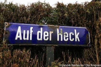 """Die Straße Auf der Heck bekam nun auch im Bebauungsplan das letzte """"e"""" gekürzt. Bisher hieß sie dort """"Auf der Hecke""""."""