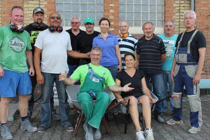 Die geplanten Arbeiten durch die Freiwilligen und Handwerker verlaufen plan- und zeitgerecht. Foto: privat